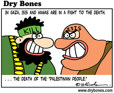 Dry Bones cartoon, Hamas, ISIS, Gaza, terror, terrorism, Israel, Palestine, Palestinians,