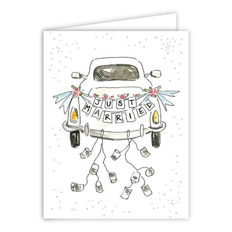Just Married Car Greeting Card