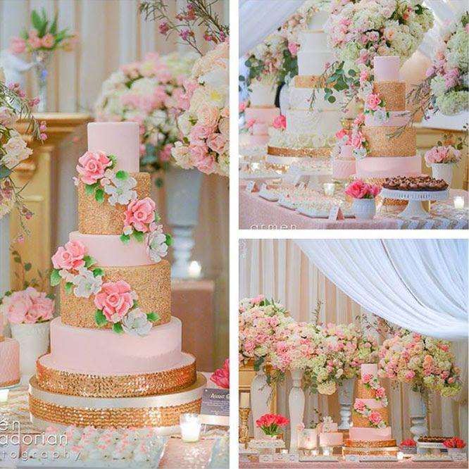 Harsanik Summer Wedding Dessert Table Cake Ideas