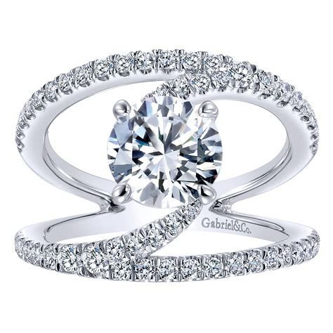 Gabriel & Co. Engagement Rings 14k White Gold Diamond