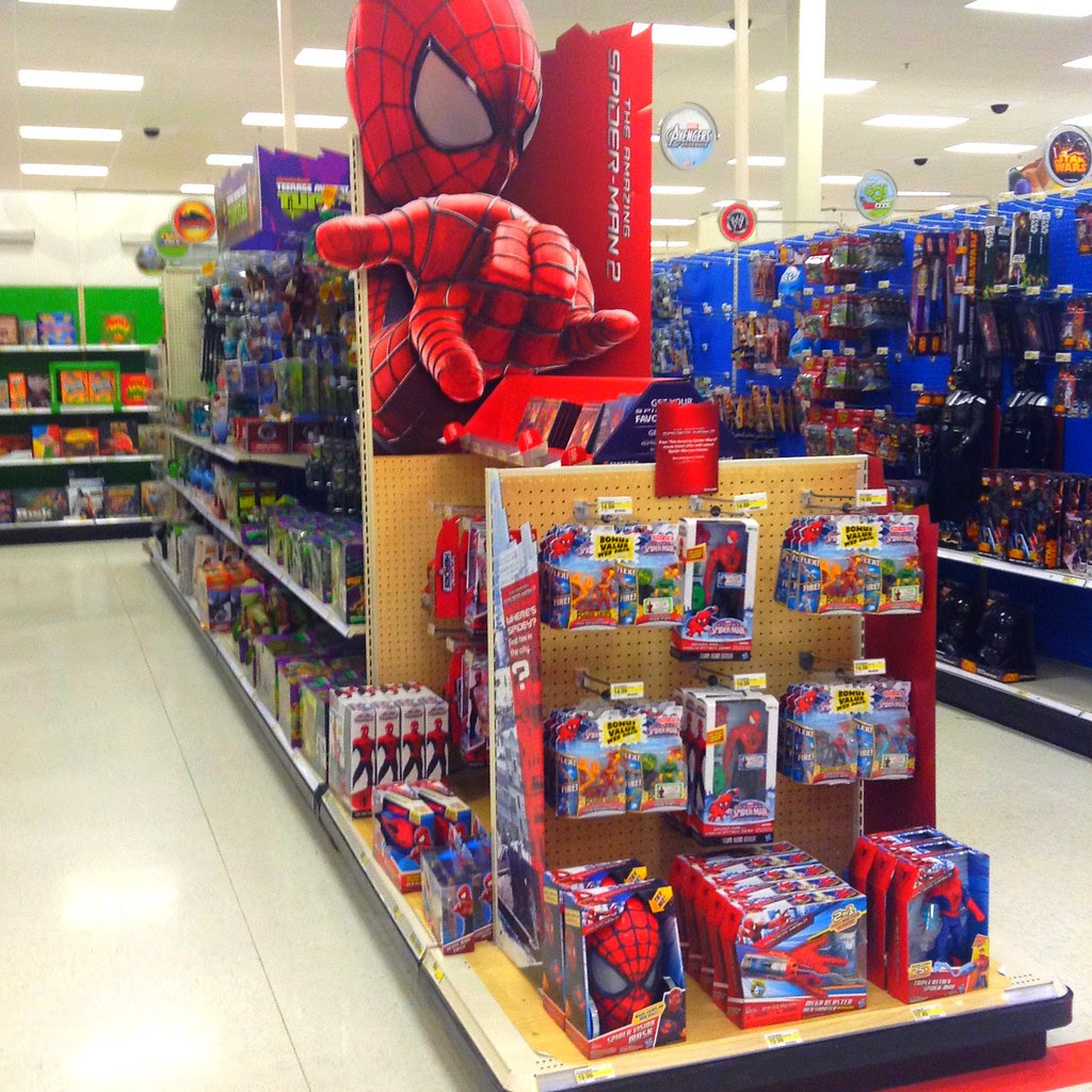 Amazing Spiderman 2 Movie Target Store Toy Department Disp
