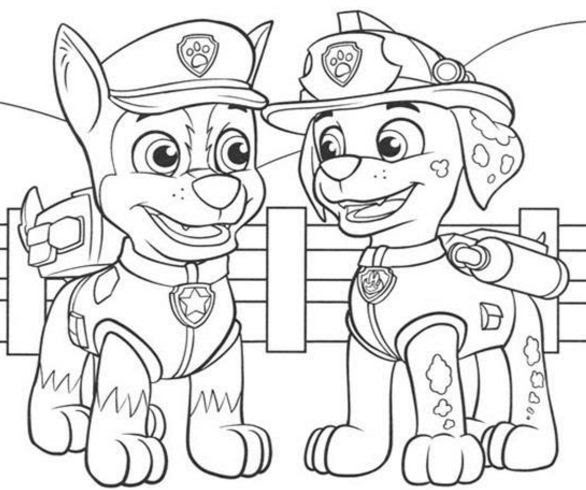 Paw Patrol Tracker Coloring Page Free Coloring Pages Online
