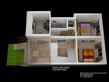 Interior Design Of Row House Design
