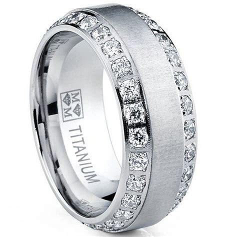 men  titanium wedding engagement ring men diamond rings
