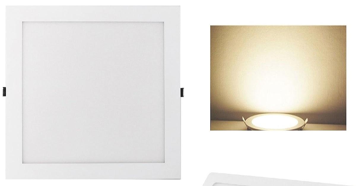 Plafoniera Led Quadrata 30x30 : Plafoniera led w luce bianco naturale k lum