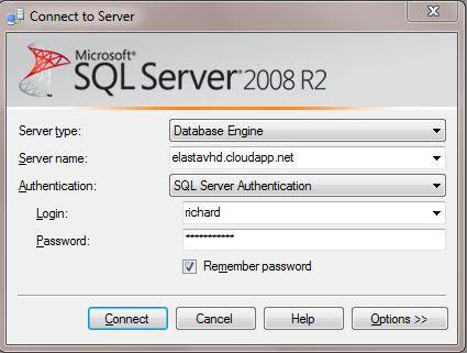 Logging into SQL Server