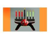 Kwanza Greeting Cards w/Gye Nyame Symbol - Set of 6 -