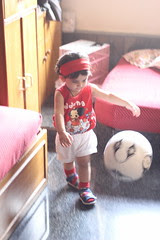 One Year Old Marathon Footballer of Bandra - Nerjis Asif Shakir by firoze shakir photographerno1