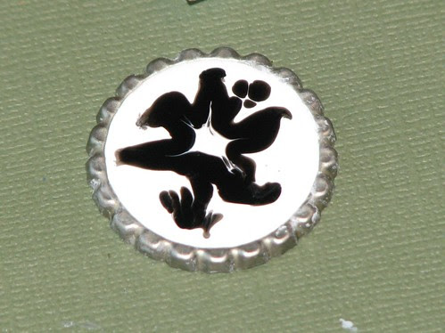 Enamel Accent Bottle Cap Charm 008