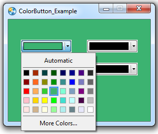 ColorButton plugin changing the background color example