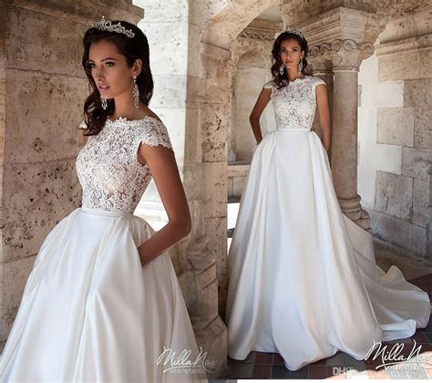 Discount 2017 New White A Line Wedding Dresses With