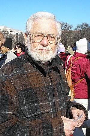 Author William Blum at an anti-war protest in ...