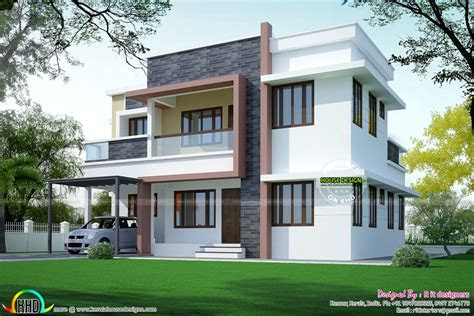 simple home plan  modern style kerala home design