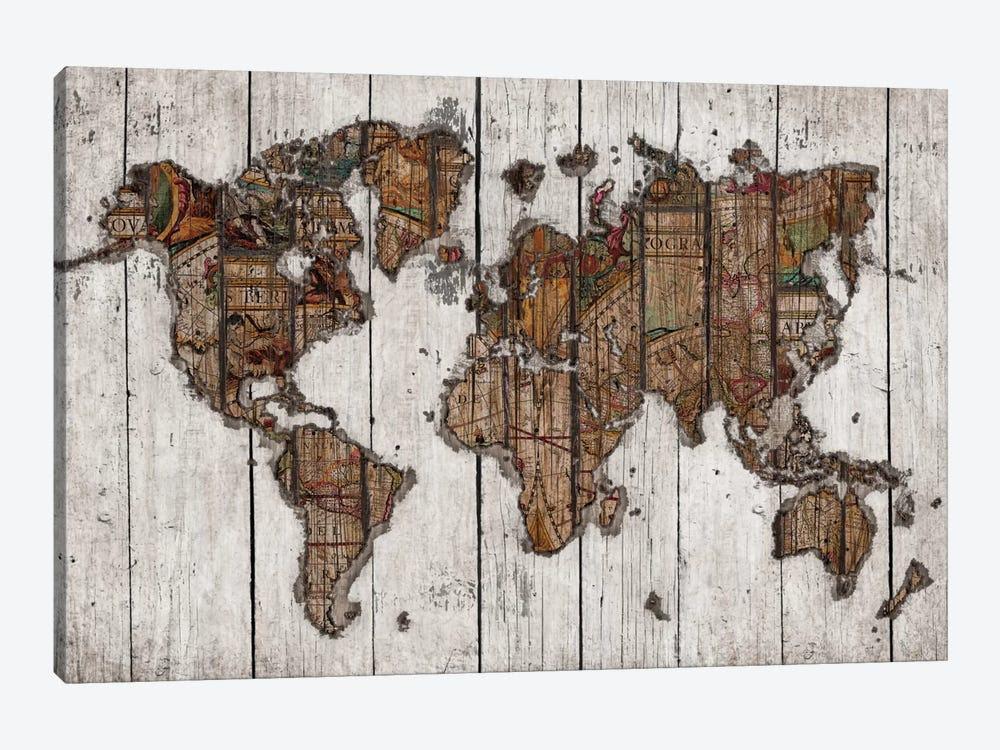 Wood Map Canvas Print Bygo Tirigall Icanvas