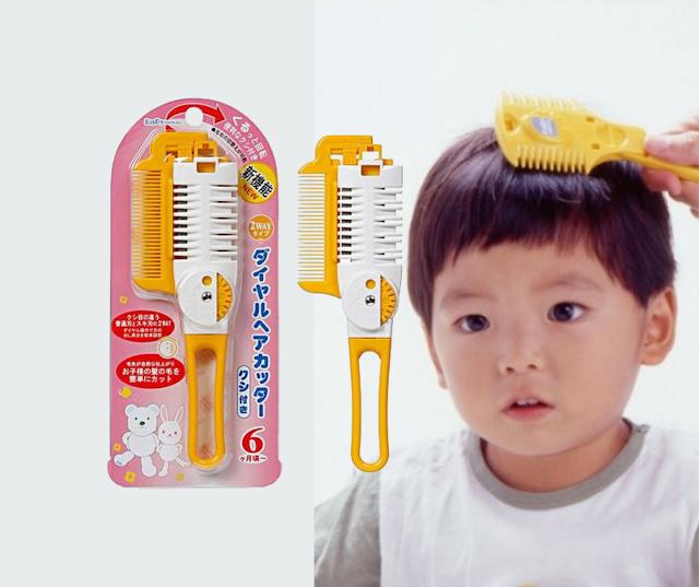 【GREEN BELL 嬰幼兒剪髮梳】專為BB而設的剪髮器:日本製造、一梳即修剪、圓頭安全設計
