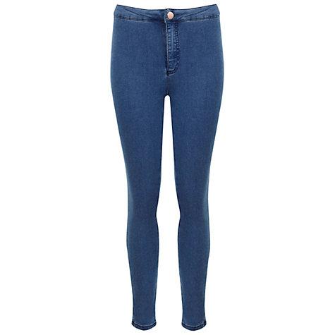 Buy Miss Selfridge Petite High Waist Jeans Online at johnlewis.com