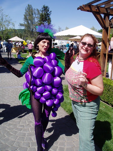 With the grapes