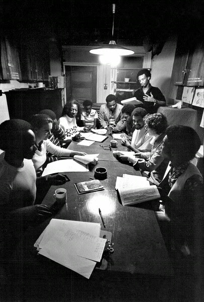 Description of  JAN 16 1981 - Thespians Do Reading In 'Nicely Muddled' Atmosphere At Eden Workshop. The workshop was formed in 1963 as talent springboard for black and Hispanic actors. (Rhoda Pollack/The Denver Post)