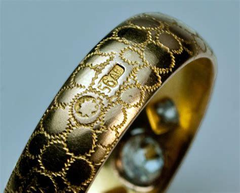 antique wedding rings unique gold diamond russian