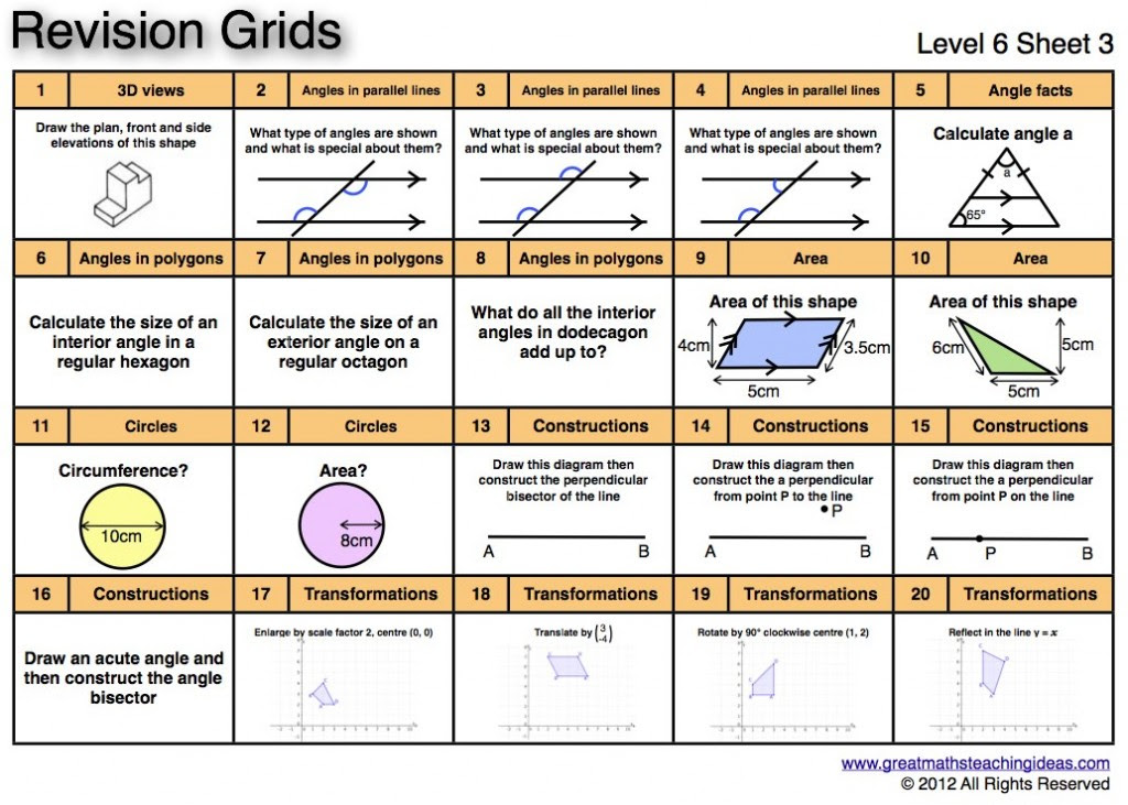 Old Fashioned Maths Revision Ks3 Year 7 Worksheets Composition ...