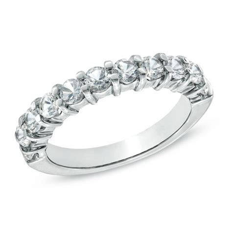 Lab Created White Sapphire Anniversary Band in Sterling