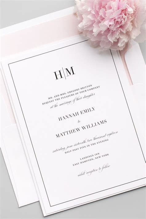 25  best ideas about Modern wedding invitations on