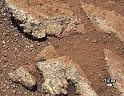 Una immagine  Nasa: quello che era probabilmente il letto di un fiume su Marte (Reuters)