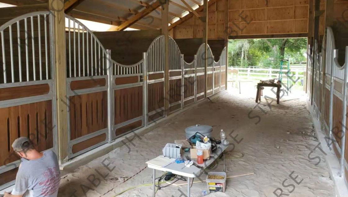 Kandang Kuda Gudang Kuda Kayu Bambu Desain Biaya Rencana Kit Untuk Dijual