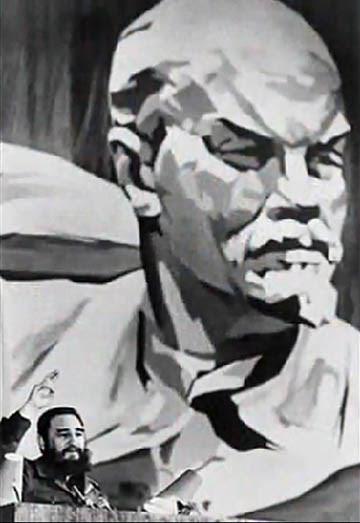 Lenin és Fidel Castro
