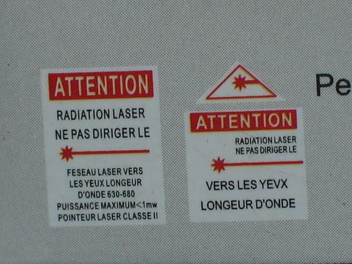 Multi-functional laser tiger, French laser warnings