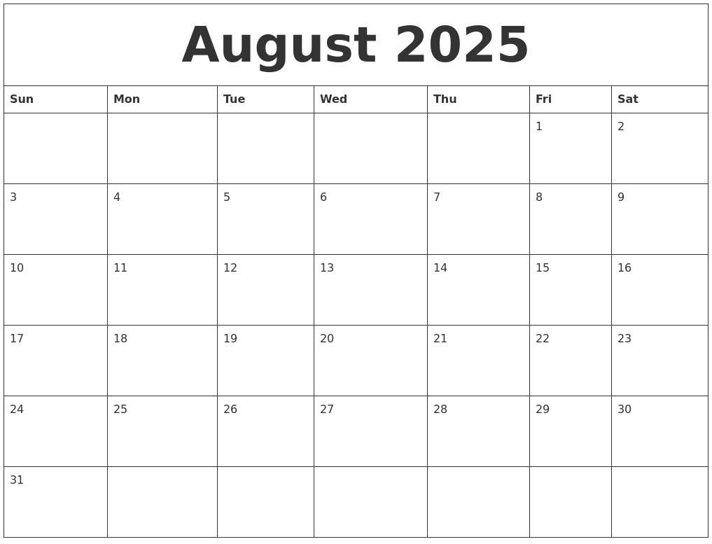 august 2025 free downloadable calendar