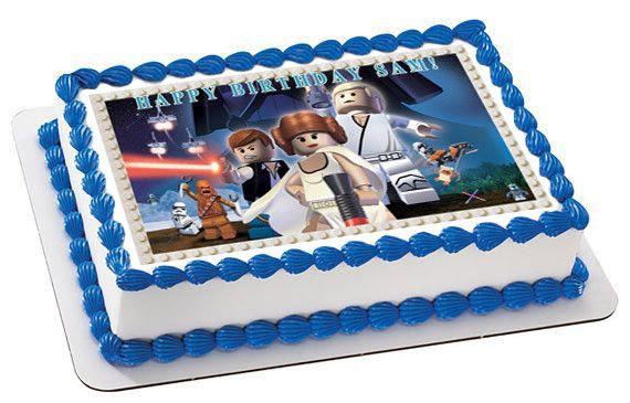 Lego Star Wars 7 Edible Birthday Cake Or Cupcake Topper Edible