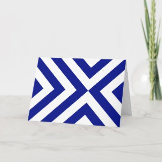 Blue and White Chevrons Cards