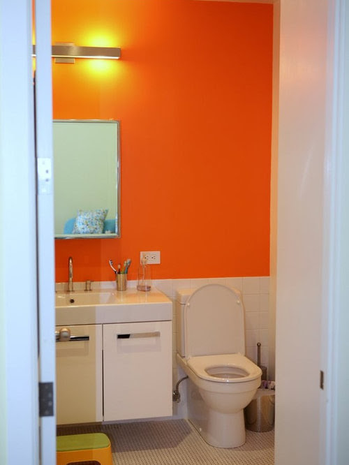 Orange Bathroom Home Design Ideas, Pictures, Remodel and Decor
