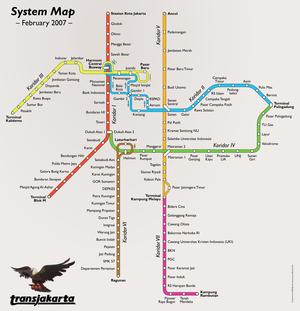 Gambar peta transjakarta diambil dari wikipedia Salam dari puput