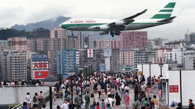Hong Kong's heart-stopping approach (Credit: Credit: Frederic J Brown/Getty)