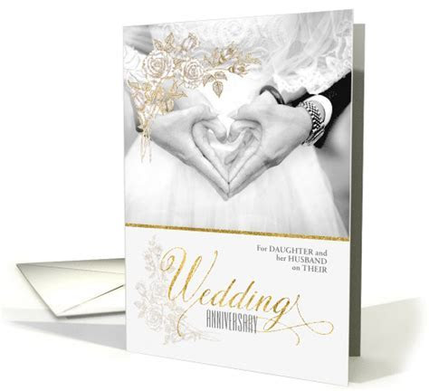 for Daughter and Husband Custom Wedding Anniversary card