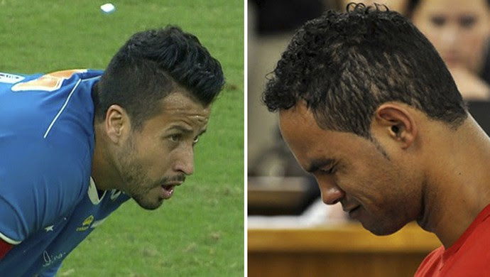 Fábio, goleiro do Cruzeiro, e ex-goleiro Bruno (Foto: Arte Globo Esporte)