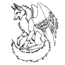 Wolf With Wings - ClipArt Best
