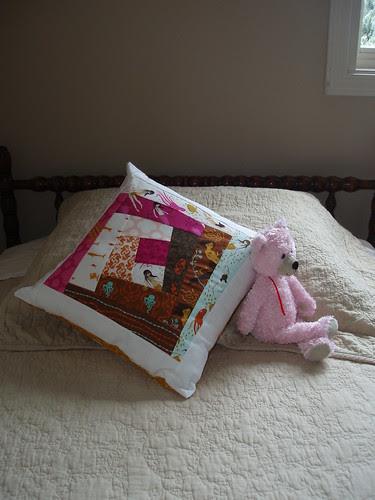 Wonky Log Cabin Pillow