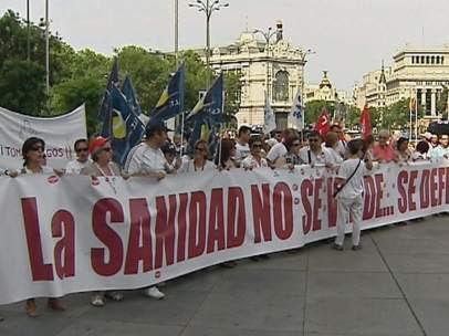 Manifestación por la Sanidad en Madrid