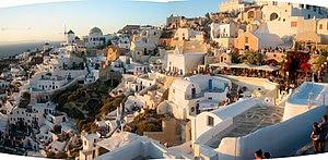 English: Sunset on Santorini, Greece. Español:...
