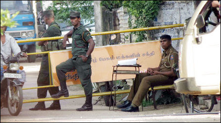 SL military at Kaladdi junction