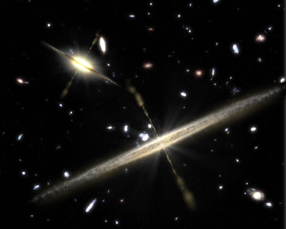 Galaxies are shaped by jets carrying electric currents being twisted by magnetic fields.
