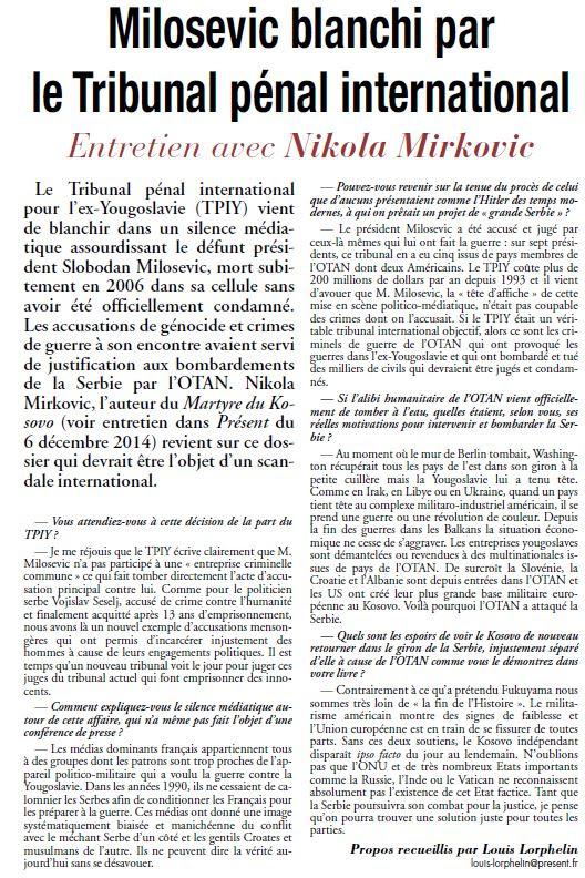 Present-Milosevic blanchi