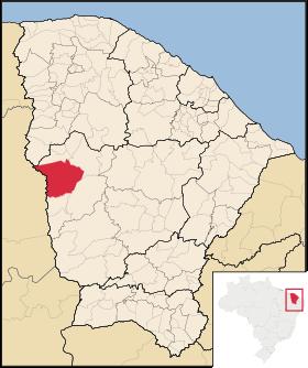 Localização de Crateús