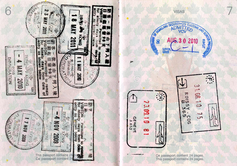 Canadian Passport With Stamps Stock Photo Image Of Border Arrival 19877674