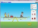 Screenshot of the simulation Ισορροπία ροπών