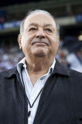Carlos Slim attends the finals of the Mexican soccer league last May. He owned both teams, Pachuca and Leon.