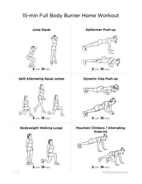 minute full body burner  home workout  men women